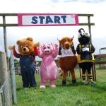 Mascot Race at Odds Farm