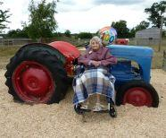 Edna Enjoys The Tractor At Odds Farm Park